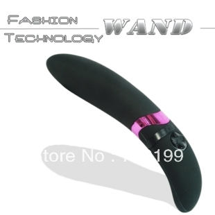 4*23cm wateproof 10 speeds vibration g spot Black AV wand massager with charger, dildo vibrator masturbation sex toy s143