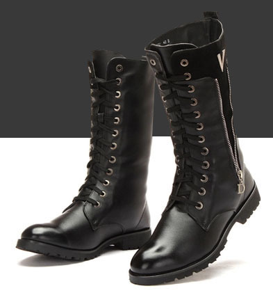 Tall boots pointed shoes Korean version British fashion trend male Martin men