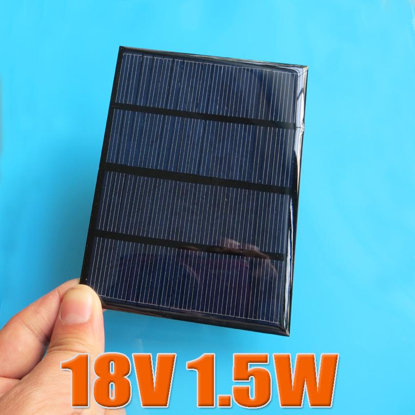 12V 100mA 1.5W Mini monocrystalline polycrystalline solar Panel small solar cell 18V charger for 12V battery(China (Mainland))