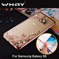 WHAY S6 Bling Diamond Clear Case for Samsung Galaxy S6 Case Silicone Cover for Samsung S6