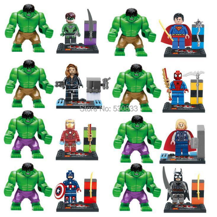 LELE 78020 Super hero 7cm Large Hulk Action Minifigure,Super Hero marvel Avengers Toys Building Block Compatible Lego, T5 - factory LEGOtoys store