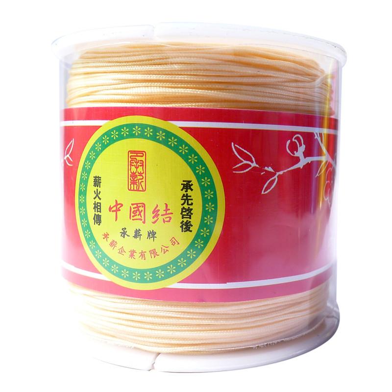 Free Shipping 1mm 1Roll/100Yards Nude Satin Rattail Nylon Cord/Macrame Rope Shamballa Bracelet Beading Chinese Knot Cord(China (Mainland))