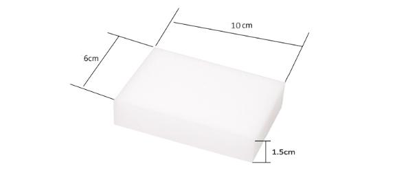 40Pcs White Multi-function Magic Melamine Sponge Nano Sponge Eraser Cleaning Sponges Cleaner Kitchen Bathroom 100x60x15mm(China (Mainland))