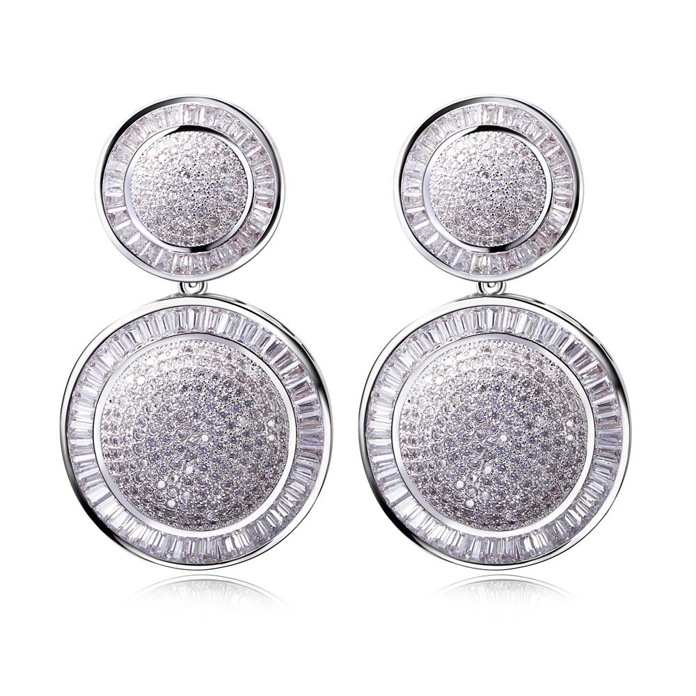 Women Luxury Wedding drop earrings AAA Cubic Zirconia long jewelry women Allergy Free Lead - Beauty Accessories online shop store