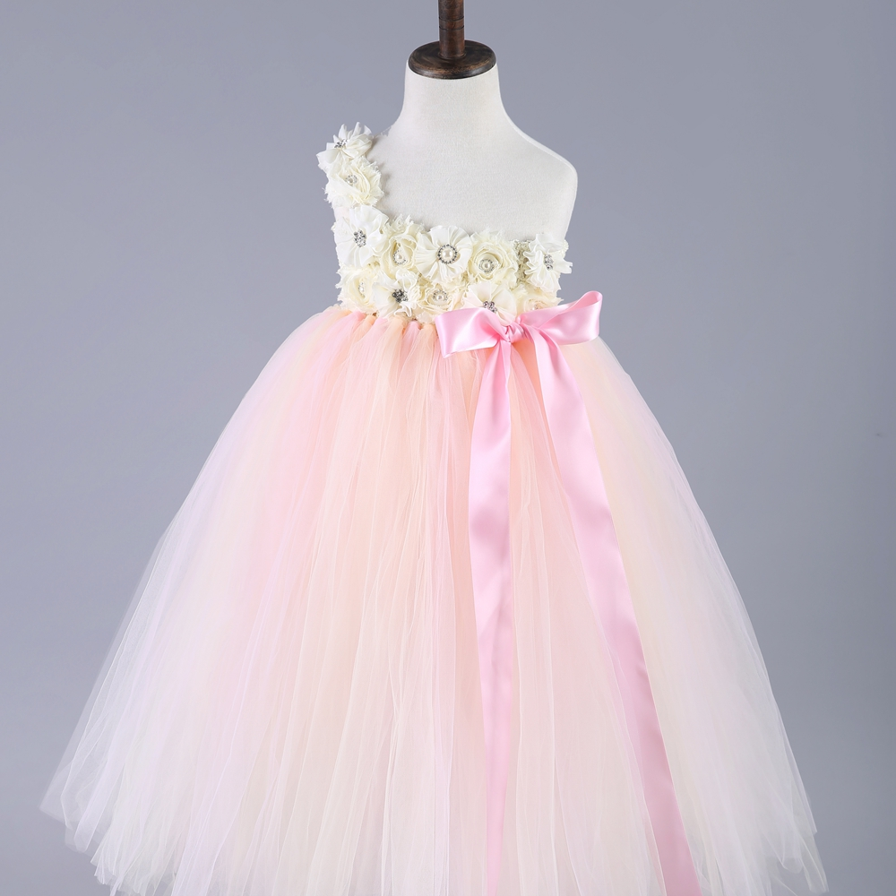 Kids Toddler Baby Girl Princess Tutu Dress Floral Wedding Party Pageant Gown US