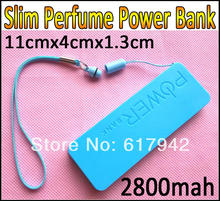 Slim Perfume Power Bank Universal 2800mAh Lithium Polymer Battery Charger for iPhone4 4s 5S for Galaxy S5 i9600 S4 (China (Mainland))