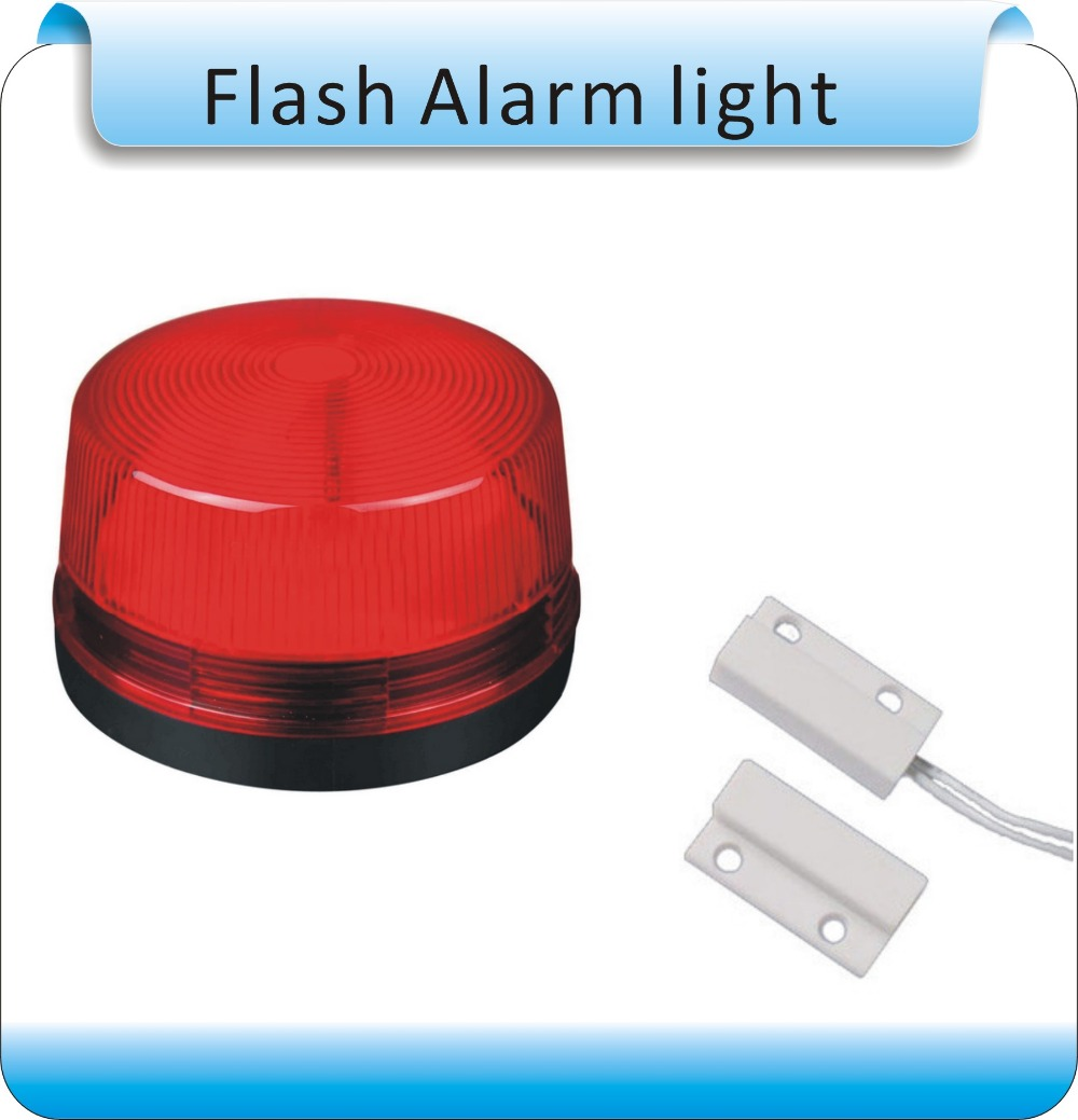 Free Shipping 10pcs (+10pcs Magnetic Switch) DC12V  windows Wired Siren with  red Flash light  Home Security Alarm Strobe System<br><br>Aliexpress