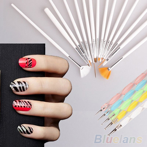 2Nail Art Design Set Dotting Painting Drawing Polish Brush Pen Tools 4PPR - Eternal Esther Store store