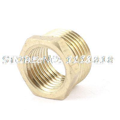 """Brass 3/8"""" PT Male to 1/4"""" NPT Female Hex Busing Pipe Fitting Connector(China (Mainland))"""