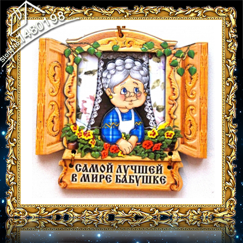 Russian Amulets DIY Diamond Painting Cartoon 40*40 Grandmother accessories Cross-stitch diamond embroidery 10 FM2525-2005(China (Mainland))