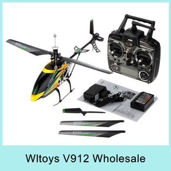 X4 Wltoys V912 2.4GHz 4CH RC Helicopter Single Propeller Big LCD 52cm Radio Control Single Screw Remote Via Singapore EMS