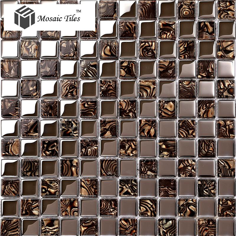 TST Glass Metal Tile Amazing glass Mosaics Tiels Kitchen Backsplash Ideas Bathroom Kitchen Backsplash Design crystal Tiles<br><br>Aliexpress