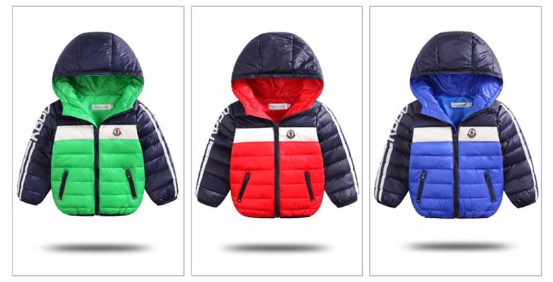 Скидки на Марка КВТ Зимние Мальчики и Девочки Белая Утка Вниз Теплая Вниз Пальто 2016 Мода Детская Одежда Верхняя Одежда и Пальто Куртка для Мальчиков
