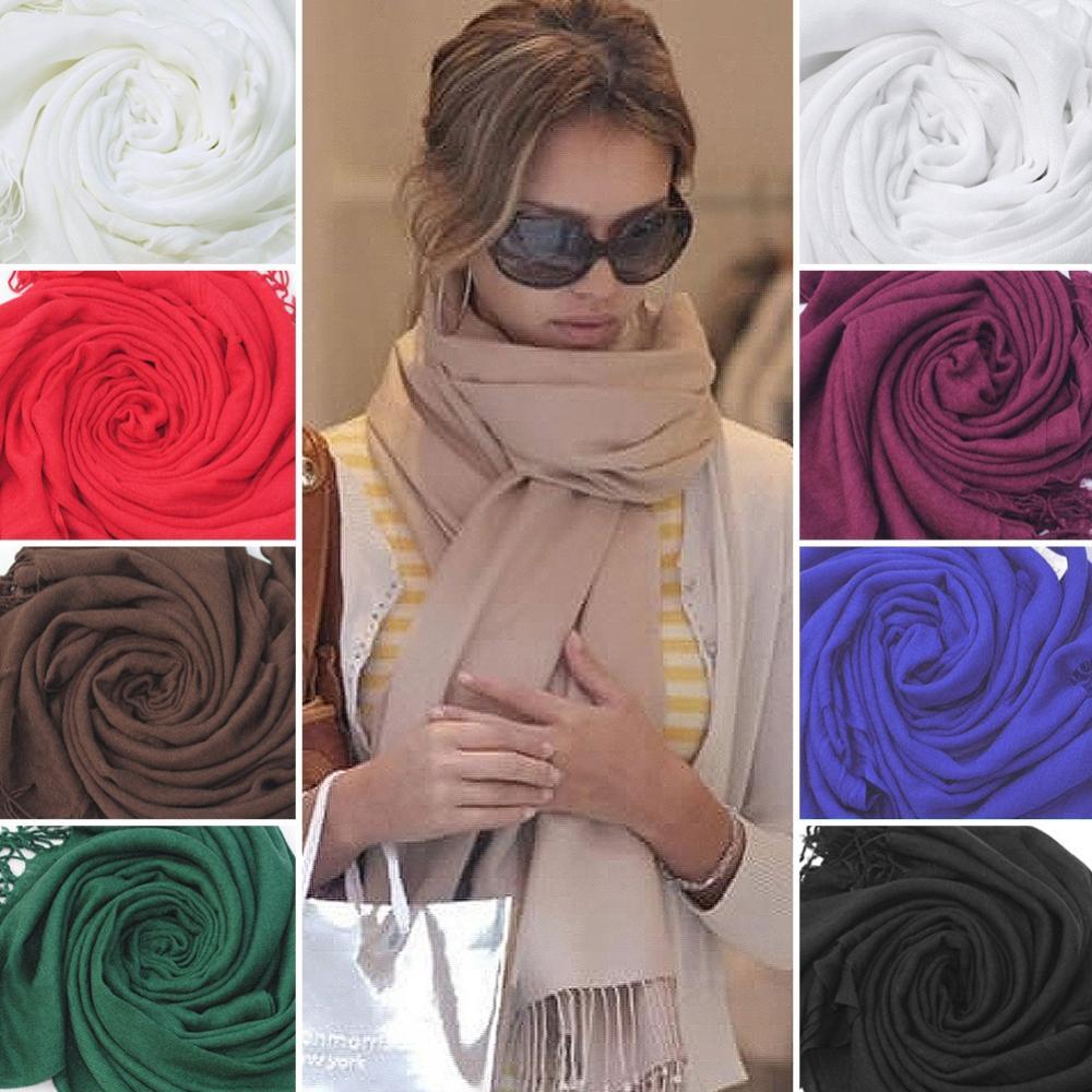 Hot Sale Womens Trendy Wrap Scarf Wool Blends Soft Warm Long Large Shawl Tassels(China (Mainland))