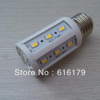 DHL FREE SHIPPING 20pcs E27/E14/B22  7W 24 LED 5730 SMD +WARM WHITE/COLD WHITE  Corn Light LED