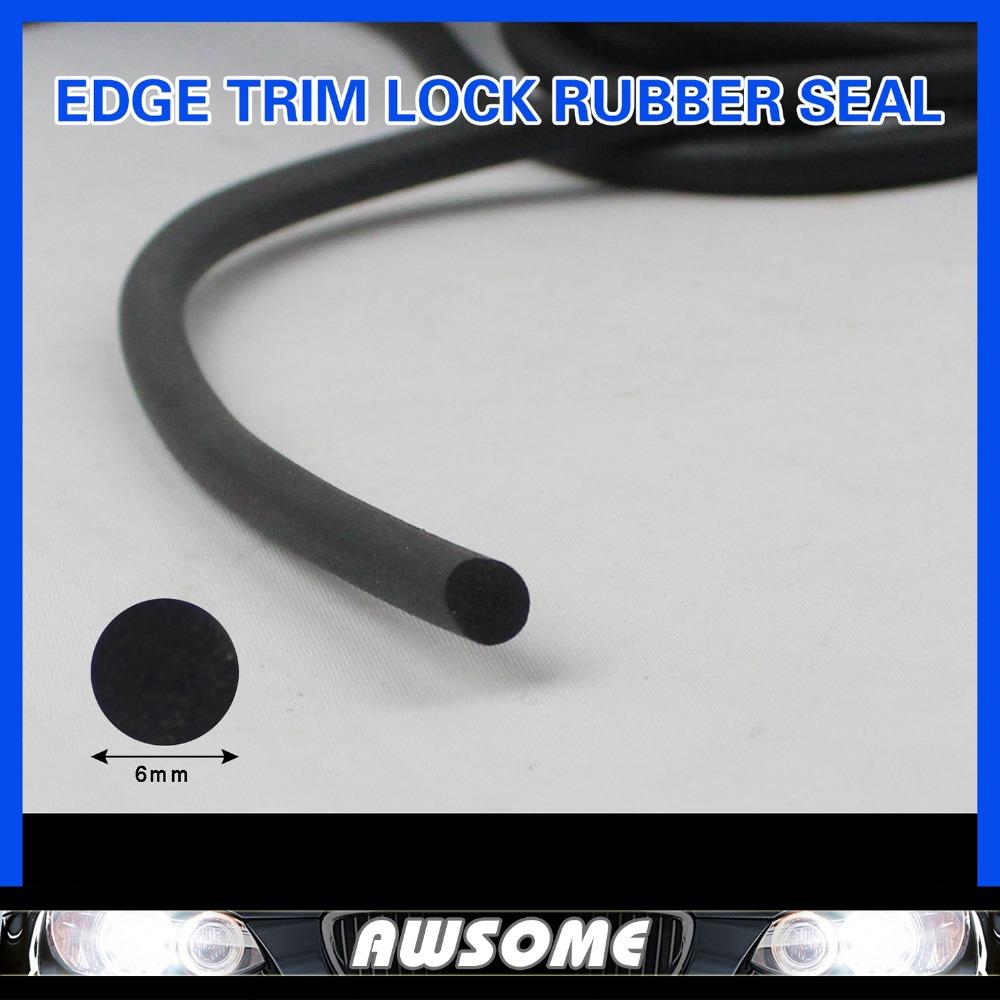 "2PCS 79"" 200cm O Strip Car Window Rubber Edge Seal Strip EDPM PVC Tape Profile panels Edging Trim Silencer Foam Dust Resistance(China (Mainland))"