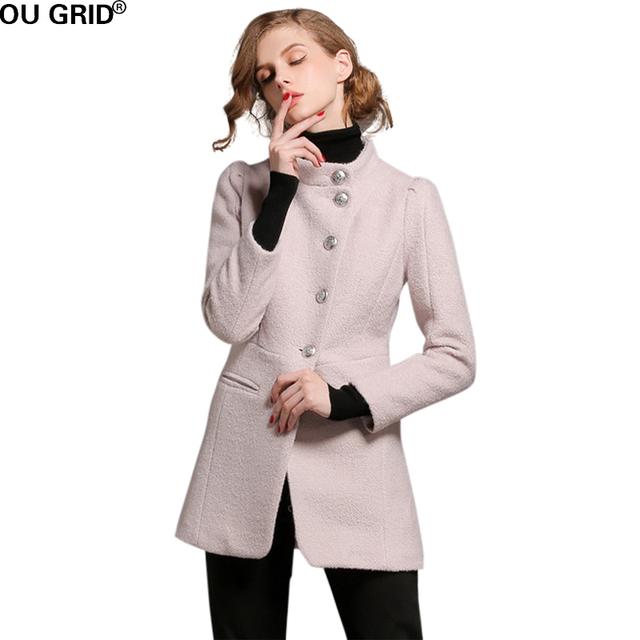 Зима Осень Пальто Марка Дизайн Женщины Теплые Хлопка мягкой Шерсти Долго Кашемировые Пальто Европейская Мода Куртка И Пиджаки