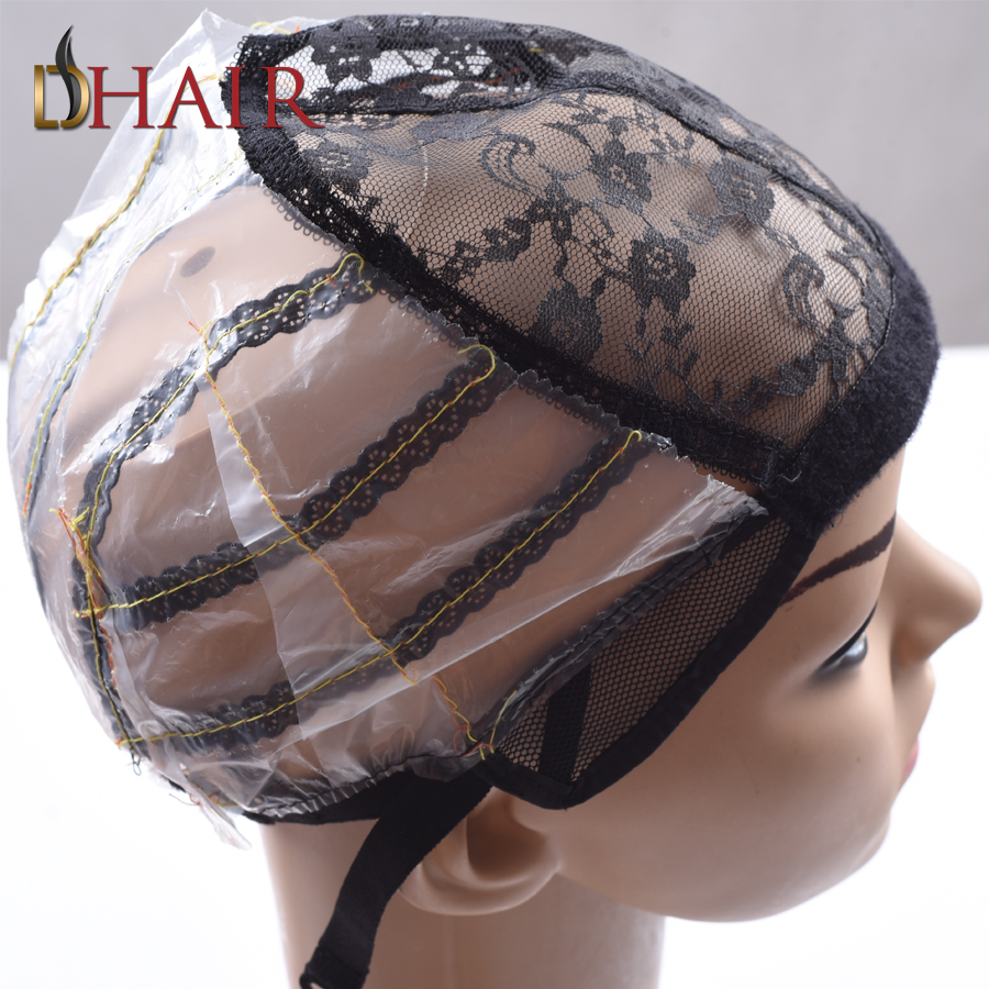 Best 10PCS Lace Wig Caps For Making Wigs Only Stretch Lace Weaving Cap Adjustable Straps Back Wig Cap For Weaving Hair Net(China (Mainland))