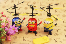 New Remote Control RC Helicopter Flying Minion/Captain America/ Spiderman Quadcopter Drone Ar.drone Kids Toy Fairy Doll