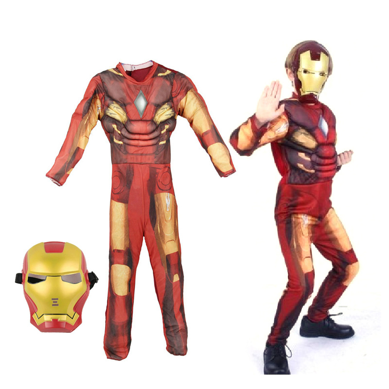 iron man muscle Halloween costume for kids Cosplay clothing children Boys Marvel Animation Avengers Movie Hulk(China (Mainland))