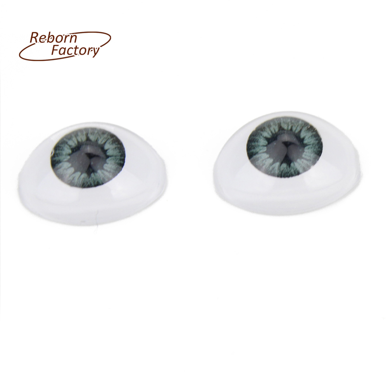 OVAL IN SHAPE Plastic Acrylic Eyes Doll Eyeballs 7mm Blue Color For Reborn Dolls Kit Accessories(China (Mainland))