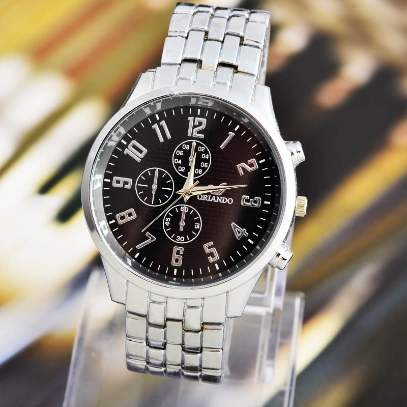 2014 (3 colors) sportsman latest fashion items, mechanical style steel tables, business quartz watch. Free shipping(China (Mainland))
