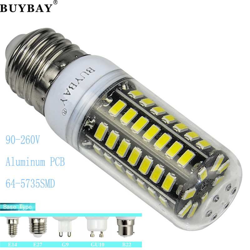 No flicker LED bulb SMD5735 90-260V 5W Aluminum PCB led light Lampada led E27 GU10 B22 64leds chandelier LED lamp(China (Mainland))