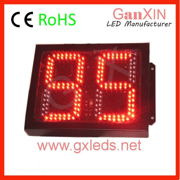 8inch 2digits High brightness red steel frame outdoor digital led counter, traffic sign(China (Mainland))