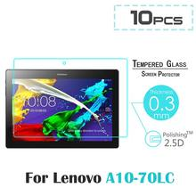 10pcs For Lenovo Tab 2 A10-70 A10-70F A10-70LC 10.1″ 9H 2.5D Explosion Proof Tempered Glass Screen Protector Anti-Scratch Film