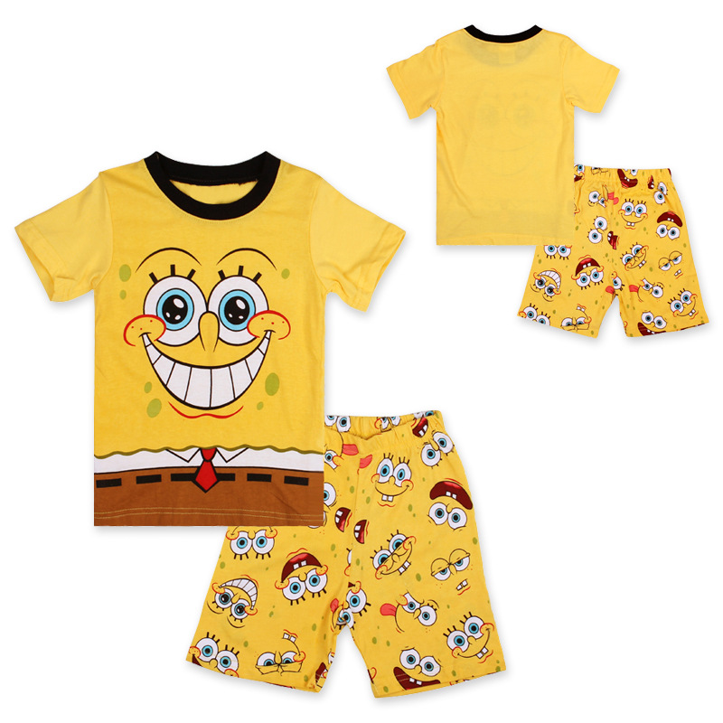 Cartoon clothing set boys summer clothing set kids short sleeve t shirt beachwear girls clothing sets girls clothing set(China (Mainland))