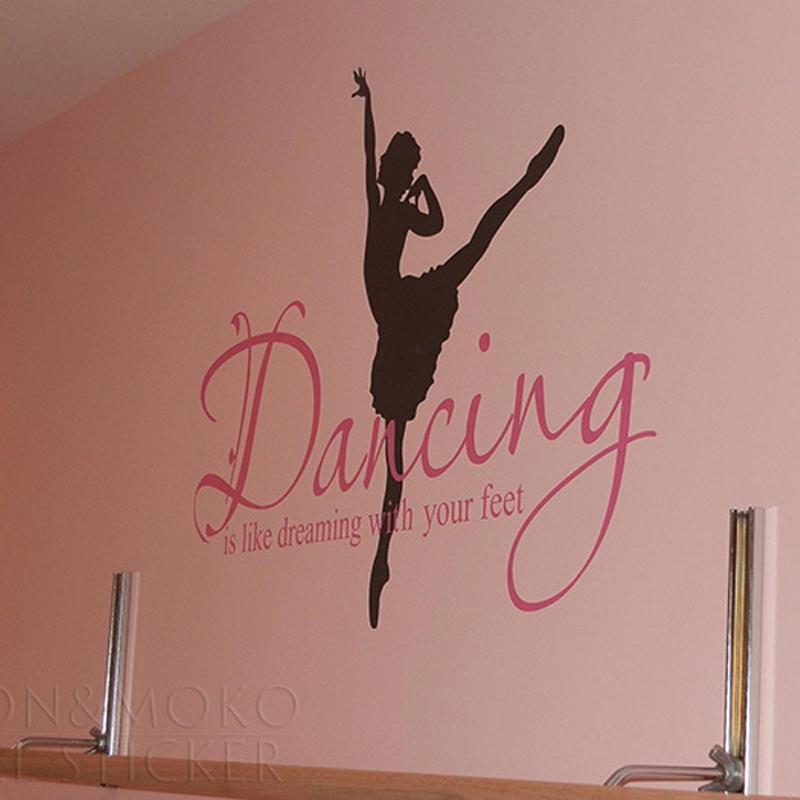 ballet ballerina dance dreaming feet vinyl wall sticker 3 ballerinas paint by number wall mural
