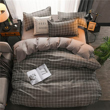 Fashion home bedding grey leopard bed linens 100% polyester duvet cover set American style bedclothes leopard bed set flat sheet(China)