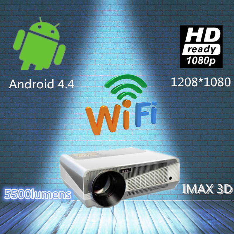 Free shipping! led projector full hd 5500 lumens daylight working 3d hd projector beamer With 2* HDMI USB TV AV interfaces(China (Mainland))