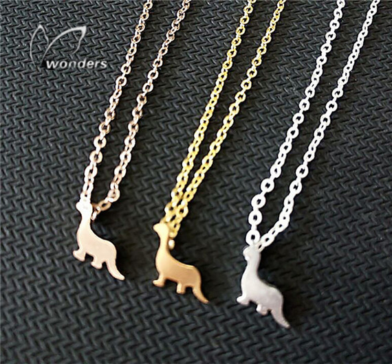 5  Pcs/lot  Woodland Animal   Stainless Steel Dinosaur Charm  Pendants Necklaces   Friendship gift <br><br>Aliexpress