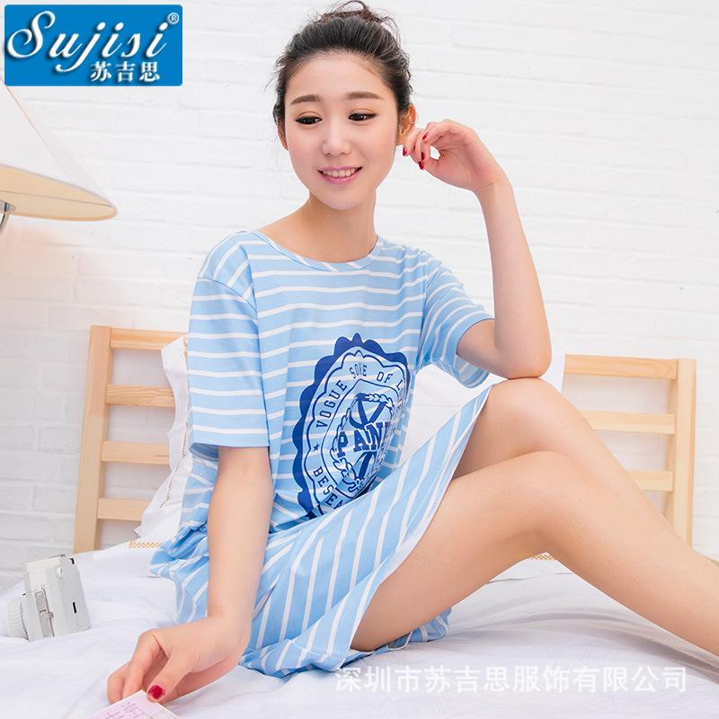 2016 new Women's fashion wearing loose sweet womens pajamas Animal printing Indoor Clothing Home Suit Sleepwear summer Pajamas(China (Mainland))