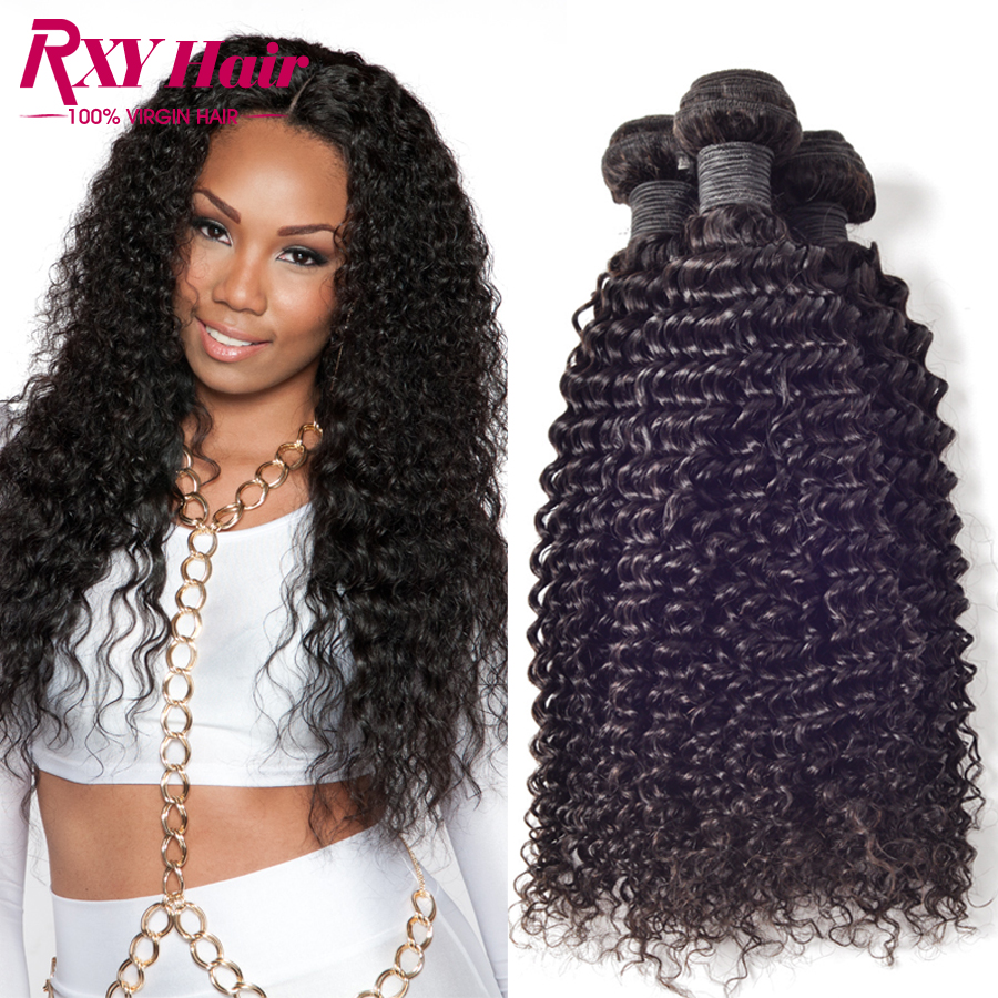 Brazilian Kinky Curly Virgin Hair Weave Bundles Human Afro - Xuchang RXY Industrial & Trade CO.,ltd store