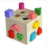 Montessori Early Learning hole intelligence box wooden toys thirteen baby educational 1-3 years - Online Store 534698 store