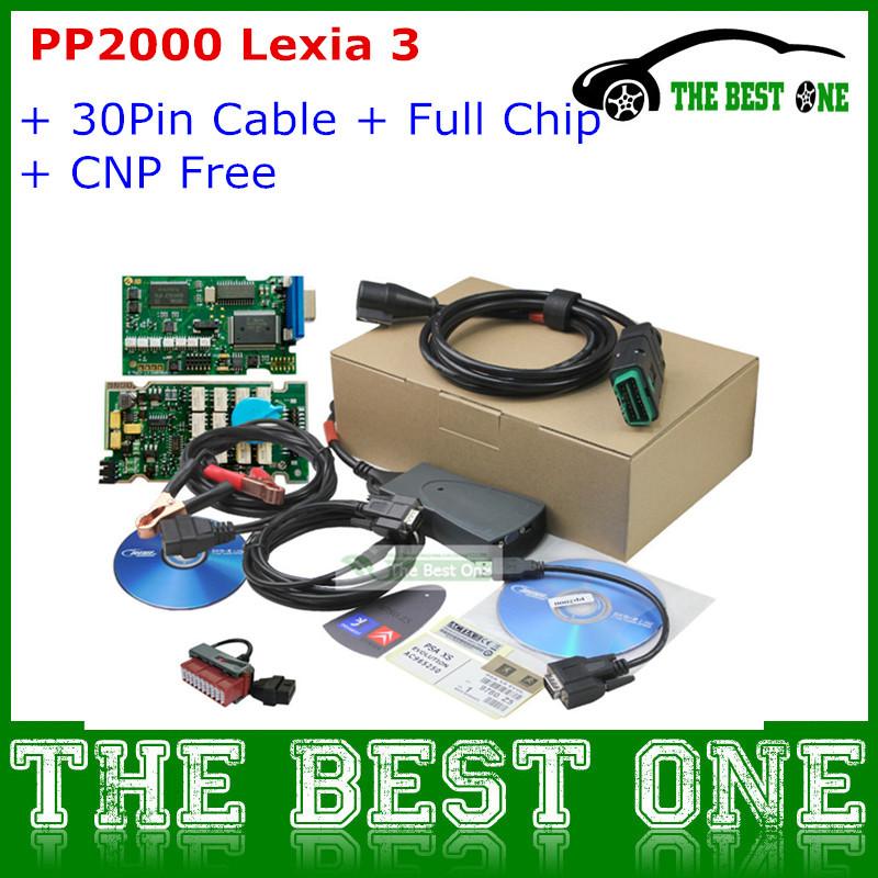 Wholesale PP2000 Lexia3 Citroen Peugeot Diagnostic Tool Lexia 3 Diagbox V7.65 PAS XS Evolution Full Chip Lexia-3 + 30pin Cable(China (Mainland))
