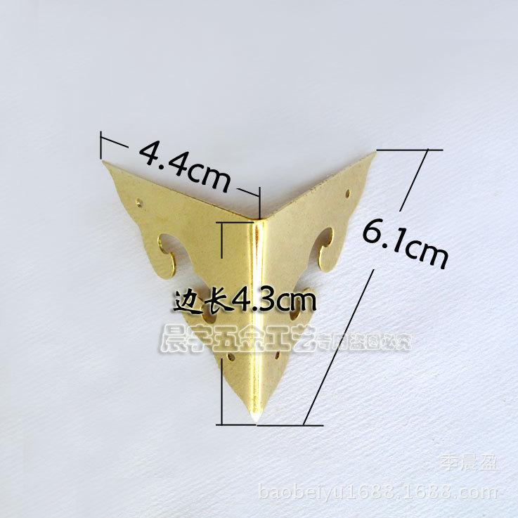 4.3cm copper wrap angle two corners of Ming and Qing furniture hardware bread copper fittings / Bags Corner / copper wrap angle<br><br>Aliexpress