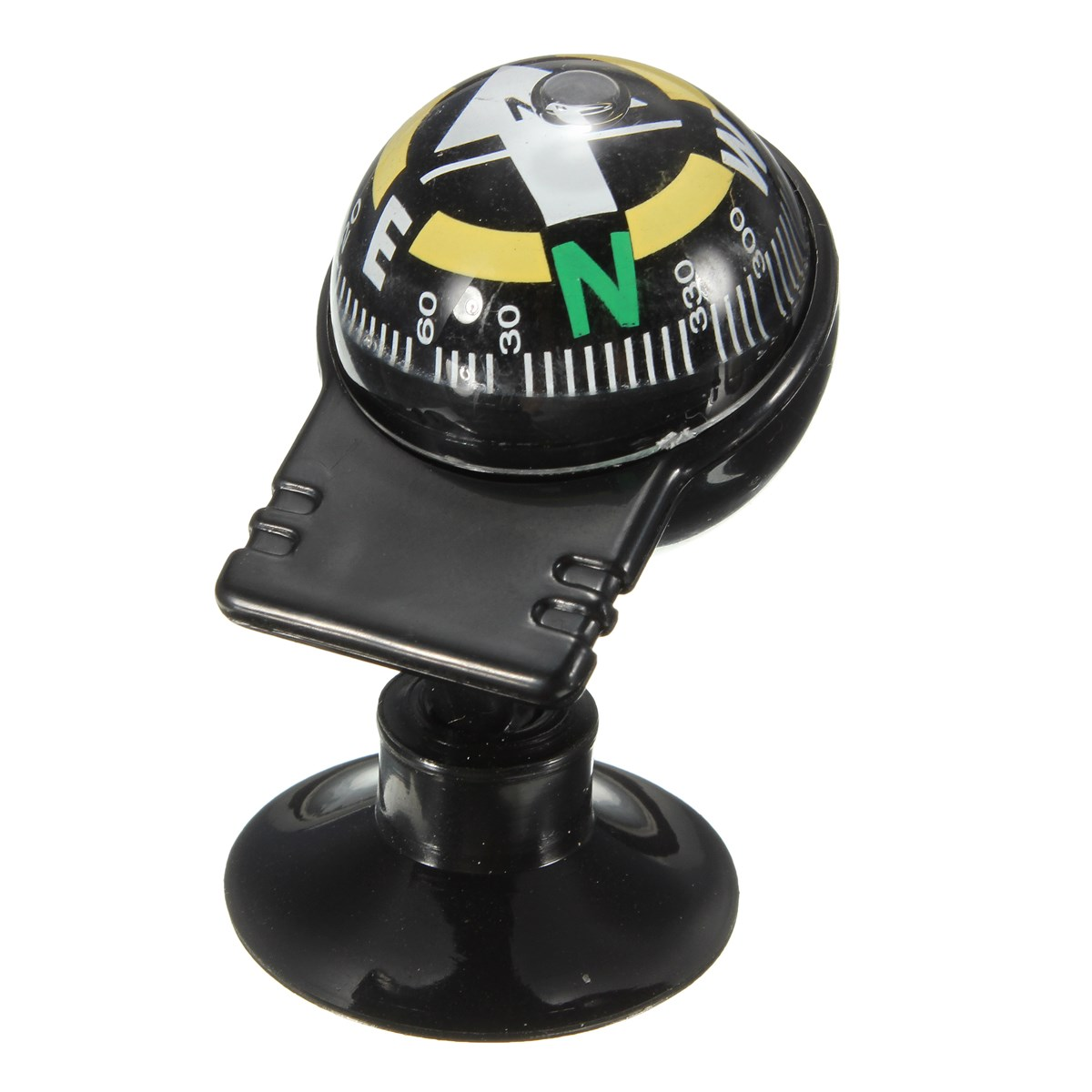 1PCS 6 x 3 x 3 cm for Pocket Ball Dashboard Dash Mount Navigation For Compass Car Boat Truck Suction Black(China (Mainland))