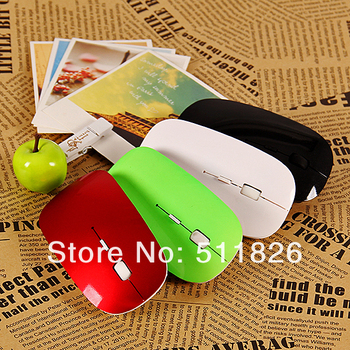 Free shipping 2013 newest fashionable - usb wireless mouse and mice 2.4G receiver, super slim mouse  00BK8141