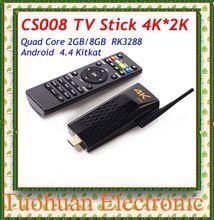 2015 newest CS008 Quad Core tv stick Android 4.4 TV Box RK3288 2GB/8GB Bluetooth 4.0 RJ45 Port Support 4K*2k Smart TV stick(China (Mainland))