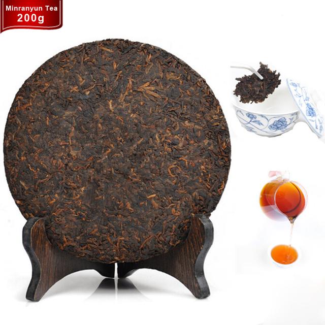 Зеленый продовольственной Китайский Юньнань Созрели Пуэр Pu'er Пу эр Чай вниз Три Высоких потеря Веса Красоты Предотвратить Атеросклероз Тема Пуэр чай