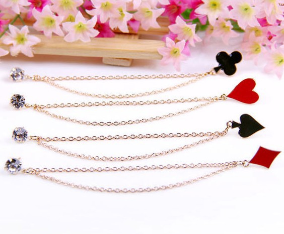 2015 New Fashion Hot-Selling Fashion Jewelry Collar Bar Drip Oil Poker Chain Brooch 66X39 66X40 66X41 X42(China (Mainland))