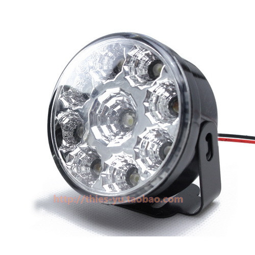 Car circle led lamp 9led general daytime running lights round fog super bright waterproof - Online Store 237334 store