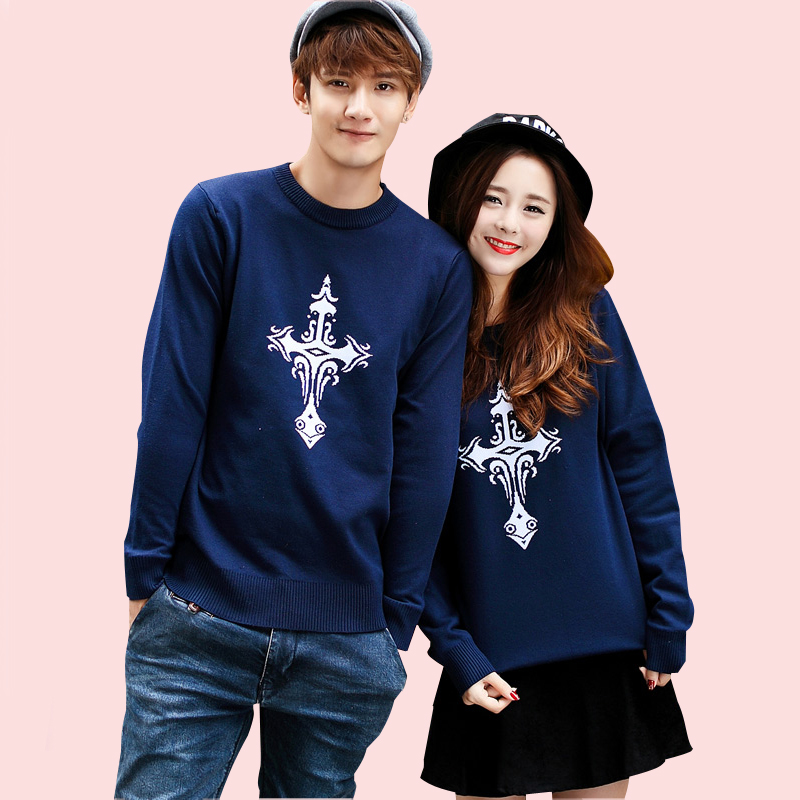 2015 New Fashion Men Sweaters Youth Popular Printing Pullover Lovers O neck Long Sleeve Knit Sweater Plus Size - TOP store