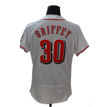New Fabric Mens Flexbase 19 Joey Votto 21 Deion Sanders 30 Ken Griffey Jersey Color Red White Heat-sealed Tagless Jerseys(China (Mainland))