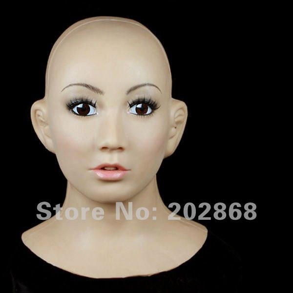 [SF-1] Party crossdress silicone latex halloween Female Mask/props fixed string binding - Guangzhou Usilicone chemical material Co.,Ltd store