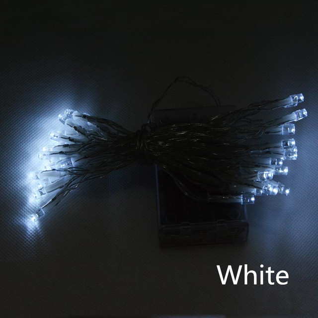 On Sale Outdoor  Festival Christmas Decoration LED String Battery Operated PVC Tube Shape Fairy Lights 4M 40 LED WarmWhite White