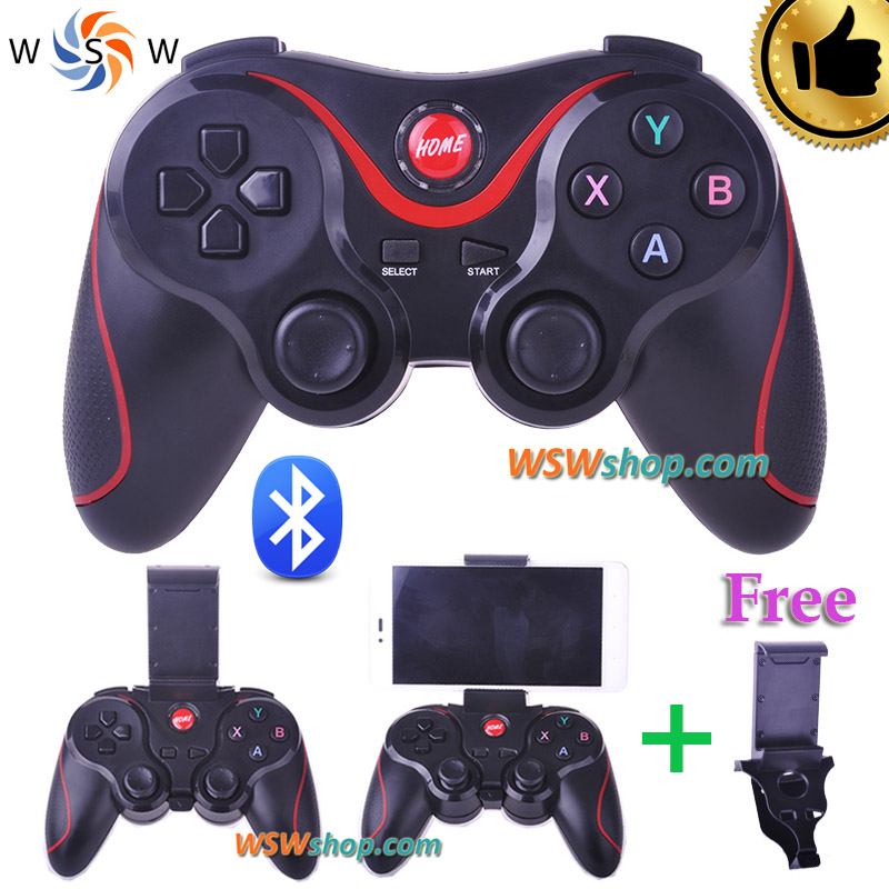 Bluetooth Gamepad For Android Smart Phone TV Box Joystick Wireless Bluetooth Joypad Game Controller With Free Mobile Holder(China (Mainland))